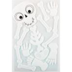 Skeleton Gel Clings 16cm x 24cm - 18 PC