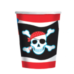 Pirate Party Paper Cups 266ml - 12 PKG/8