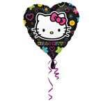 Hello Kitty Tween Heart Standard Foil Balloons S60 - 5 PC