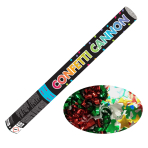 Multi Coloured Foil Confetti Cannons 58cm - 6 PC
