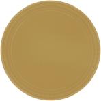Gold Paper Plates 18cm - 6 PKG/20
