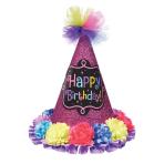 Happy Birthday Cone Hats - 6 PC