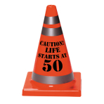 50th Birthday Cones 11cm x 16cm - 12 PC