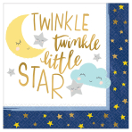 Twinkle Little Star Luncheon Napkins 33cm - 12 PKG/16