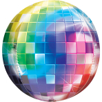"Disco Ball Orbz Foil Balloons 15""/38cm w x 16""/40cm h G20 - 5 PC"