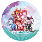 Enchantimals Paper Plates 23cm - 6 PKG/8