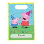 Peppa Pig Plastic Lootbags - 18 PKG/8