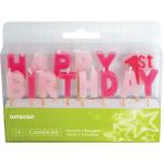 Happy 1st Birthday Girl Pick Candles - 6 PKG/14
