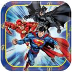 Justice League Paper Plates 18cm - 6 PKG/8