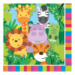 Jungle Friends Luncheon Napkins 33cm - 6 PKG/20