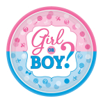Girl or Boy Paper Plates 26cm - 12 PKG/8