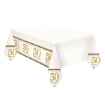 Sparkling Golden Anniversary Plastic Tablecovers 1.2m x 1.8m - 6 PC