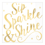 Cheers to You Hot Stamped Luncheon Napkins 33cm - 12 PKG/16