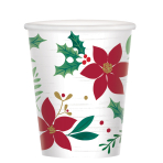 Christmas Wishes Paper Cups 266ml - 12 PKG/8