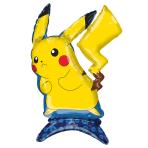 """Pikachu Pokémon Sitter Foil Balloons 18""""/45cm w x 24""""/60cm h P50 - 5 PC"""