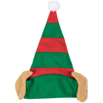 Elf Hat with Ears - Size Adult- 6 PC