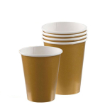 Gold Paper Cups 266ml - 12 PKG/8