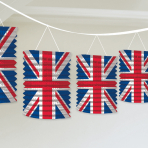 Great Britain Union Jack Lantern Garlands 3.65m - 6 PKG