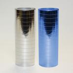 Metallic Silver & Blue Serpentine Rolls     - 4mm x 7mm (18 throws per roll) 24 PKG/2