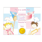 Little Cooks Certificates & Ribbon 19cm x 14cm - 6 PKG/8