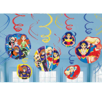 DC Super Hero Girls Hanging Swirl Decorations - 6 PKG/12