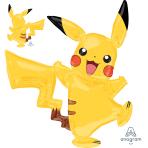 """Pokémon Pikachu AirWalker Foil Balloons 52""""/132cm w x 57""""/144cm h P93 - 5 PC"""