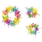 Hawaiian Rainbow Tinsel Packs - 9 PKG/3