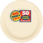 Vanilla Creme Paper Plates 23cm - 6 PKG/50
