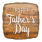 Happy Father's Day Wood Sign Standard HX Foil Balloons S40 - 5 PC
