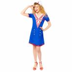 Sailor Lady Costume - Size 8-10 - 1 PC