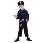 Boys Policeman Costume & Accessories - Age 3-6 Years - 1 PC