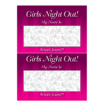 Hen Night Name Tags - 6 PKG
