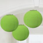 Kiwi Green Paper Lanterns 24cm - 6 PKG/3