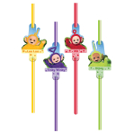 Teletubbies Straws - 6 PKG/8