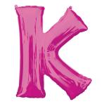 """Letter K Pink SuperShape Foil Balloons 34""""/""""86cm P50 - 5 PC"""