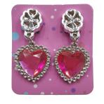Bulk Packed Heart Diamond Earrings - 96 PC