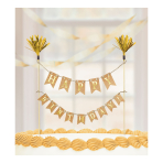 Gold Cake Pick Banner - 6 PC