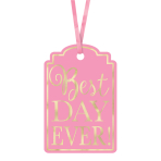 Pink Best Day Ever! Tags - 9 PKG/25