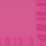 Bright Pink Beverage Napkins 25cm - 12 PKG/50
