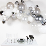 Silver DIY Garland Balloon Kits - 4 PKG/66