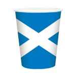 Scotland Flag Cup 266ml - 6 PKG/8