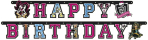 Monster High Letter Banners 1.8m x 12cm - 10 PC