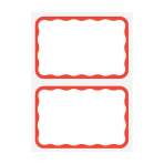 Name Tags Red Border - 12 PKG/100