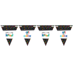 Retirement Pennant Banners 4.5m - 12 PC