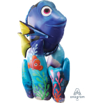 "Finding Dory AirWalkers Balloons 31""/78cm w x 55""/139cm h P93  - 5PC"
