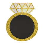 Ring Glitter Stand-up Chalkboard MDF Signs 25cm x 30cm - 6 PC