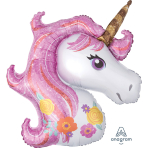 Magical Unicorn SuperShape Foil Balloons P35 - 5 PC