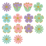 Easter Mini Glitter Cut-Outs 6cm - 9 PKG/50