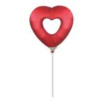 Open Heart Sangria MiniShape Foil Balloons A30 - 5 PC