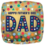 Happy Father's Day Standard HX Foil Balloons S40 - 5 PC